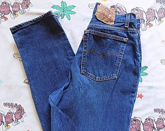Vintage 80's Levi's 17501 0158 high waisted tapered Jeans, 30x31 button fly Dead Stock NOS 501