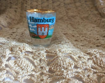 A107b  Hamburg shot glass souvenir