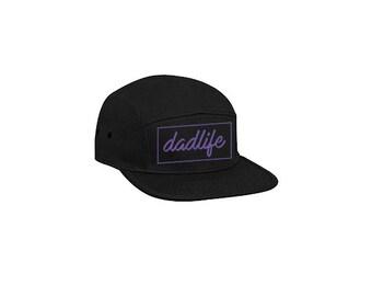 Dadlife 5 Panel Cap, hat, embroidered, dad hat, dad stuff