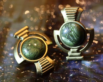 Classic Egyptian Revival Clip on Vintage Earrings