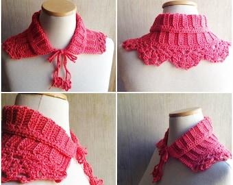 fancy crochet collar, peter pan collar, handmade collar, crochet necklace, lace collar, fashion crochet, knit collar, crochet neckwarmer