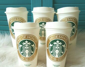 Travel mug, coffee mug,  custom coffee mug, personalized starbucks cup,will you be my bridesmaid,  gift for bridemaid,gift for maid of honor