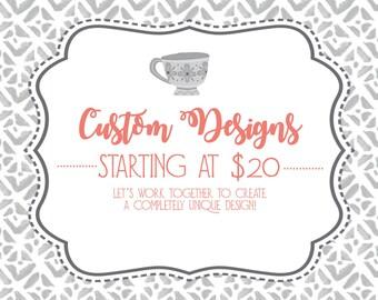 Custom Invitation, Custom Design, Digital Download