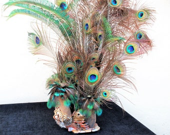 Peacock Feather Centerpieces Etsy
