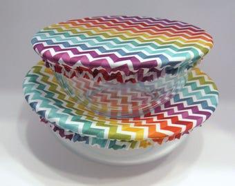 Reusable Bowl Covers, Rainbow Chevron