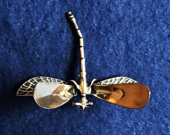 Sterling Silver mosquito brooch