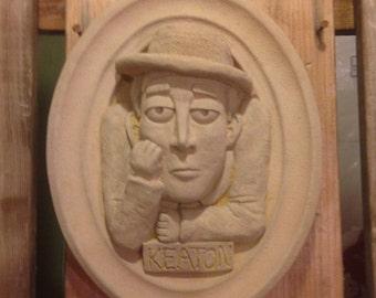 Buster (Stone Face) Keaton bugaboo Garden plaque