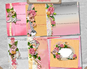 Digital Scrapbooking, Journaling Pages, Quick Page Stacker Album, Baby Album: You're My Lil' Girl