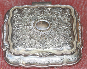 Silver metal jewellery box