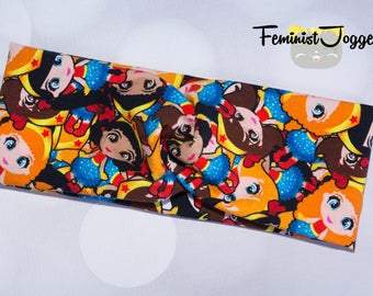 Wonder Woman Runners Twist Headband, Jogging Headband, Sweatband, Running Headband, Yoga Headband, Hair Accessories, Exercise Headband