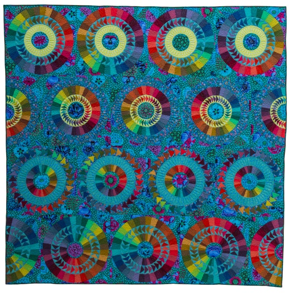 Pandemonium Quilt Fabric Pack from Carl Hentsch's new book New York Beauties & Flying Geese