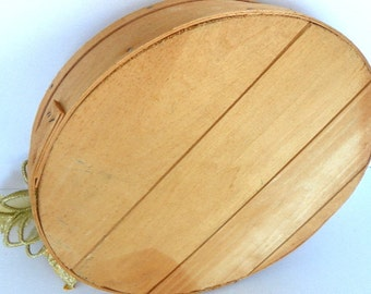 Vintage Wood Cheese Box for Storage or Decor Round Wooden Box with Lid