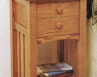 Bedside Companion Nightstand Woodworking Plans