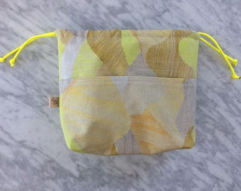 Abstract, Yellow, Linen/Canvas Project Bag