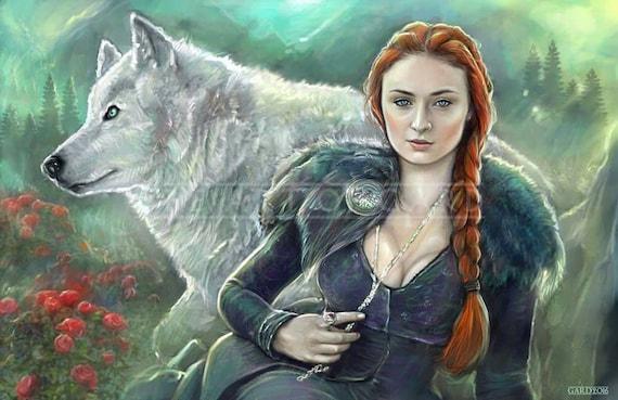 Sansa Stark from Game of Thrones (11X17 high quality art print)