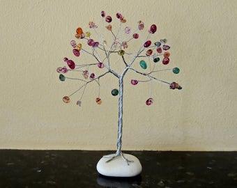 Gemstone Nursery decor, Tree nursery art, Kids playroom decor, Kids art decor, Kids gift, Baby shower, gemstone tree, wire tree