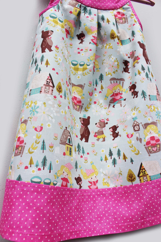 Goldilocks Girls Jumper Dress 1st Birthday Dress Girls Summer