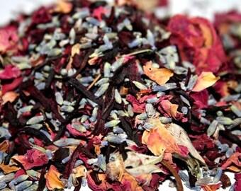 SWEET LAVENDER ROSE Herbal Tea Bath * 4 oz. * Floral Facial Steam * Herbal Face Steam * Herbs * Skin Care * Facial Steam* Floral Bath Soak
