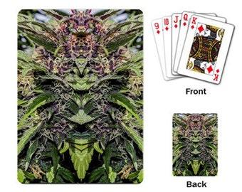 Playing Cards: Marijuana Themed Playing Cards Purple Goo Marijuana Print, Cannabis Cards, Marijuana Cards - Made to Order