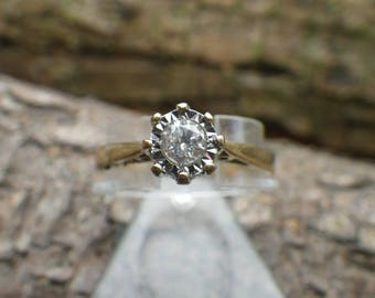18ct Yellow Gold Diamond Solitaire Engagement Ring