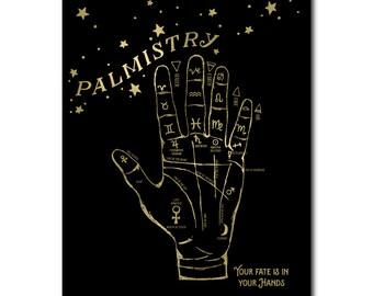Palm reading print | Etsy