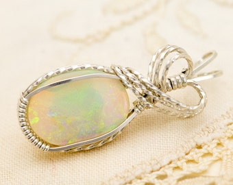 Crystal Opal Sterling Silver Pendant 4.05ct (CY5-P)