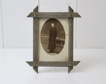 Antique Wood Picture Frame, Wooden Picture Holder, Small Picture Frame, Art Deco Picture Frame, Vintage Picture Frame, Photo Stand - D592