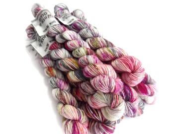 Sock Yarn Mini's Superwash Merino/Nylon 85/15 4ply Handdyed Yarn: CRUSH