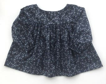 Babydoll Blouse in Storm Floral