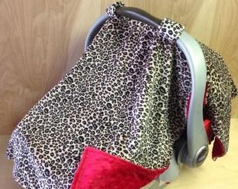 Canopy Tent- Tan Cheetah/red