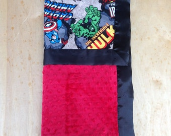 30x36 Blanket- Super Hero/ Red