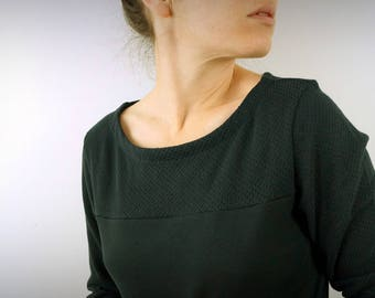 heavy shirt organic cotton jersey Black Lace