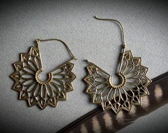 brass earrings *tribal*