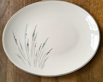 "Knowles Fantasy 12"" Oval Serving Platter"