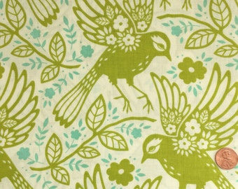 Half Yard - Up Parasol by Heather Bailey for Free Spirit Fabrics  - Meadowlark in Chartreuse
