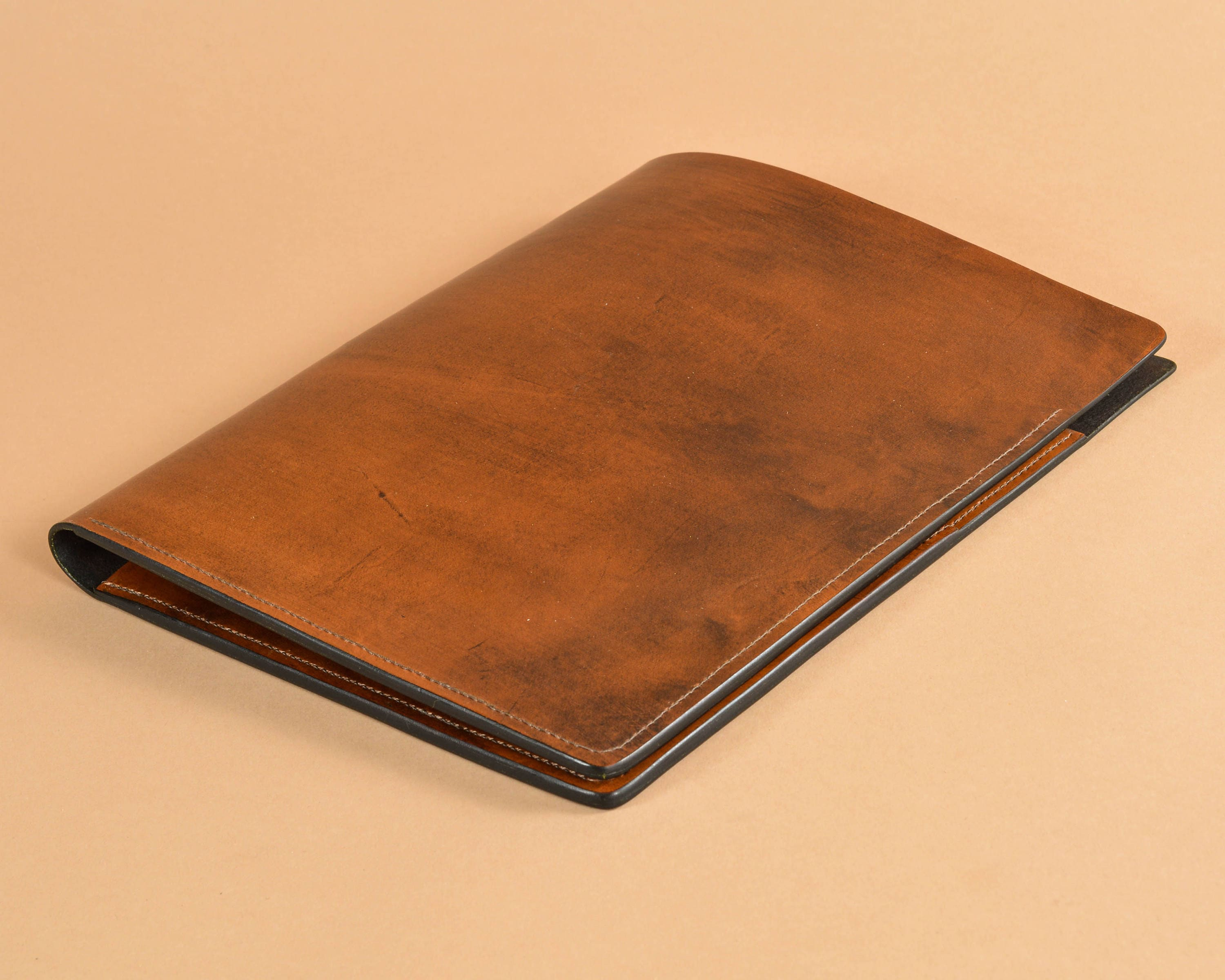 Leather writing folio