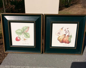 Karyn Frances Gray Fruit Series Paintings distributed by Pier 1 Frame 5X7 Painting 6X6