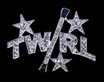 Style # 16356 Star Twirl And Baton Pin