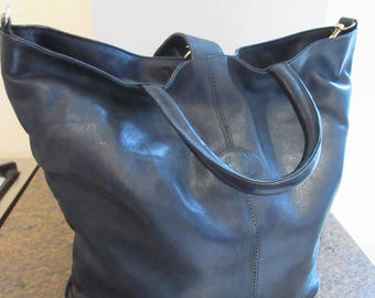 Vintage 1980's Beautiful Soft Black Leather 'Jane Shilton' Handbag - Lovely!!