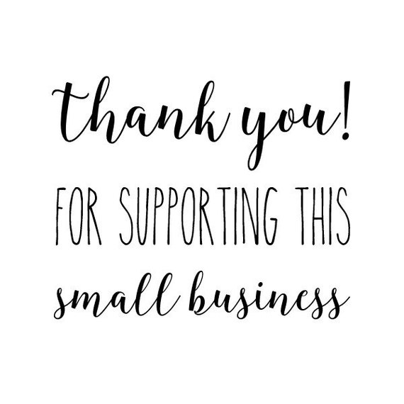 Thank You Quotes For Business Clients: Thank You For Supporting Small Business Stamp Packaging