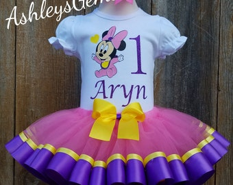 Baby Minnie Mouse 1st Birthday Outfit, Minnie Mouse Tutu Set, Minnie Mouse Tutu Outfit, Minnie Mouse Tutu Baby, Minnie Mouse Dress Toddler