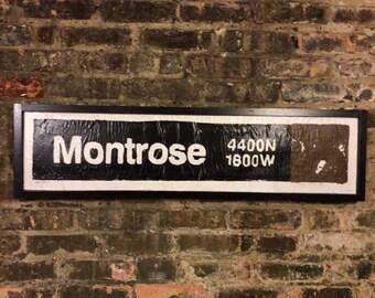 Montrose Brownline Stop, Chicago Brownline, Northcenter Chicago, Chicago Transit System, Train Art, Street Art, Vintage Signs, Urban Art