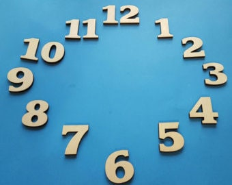 Wood Clock Numbers ****You choose the font and size! ****