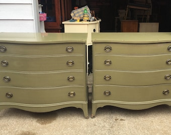 Pair of Hepplewhite Dressers or Oversized Nightstands - Custom Lacquered - on hold for Anne