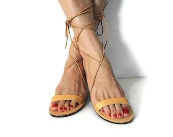Strap up sandals, gladiator sandals, tie up sandals, Greek leather sandals, genuine leather sandals, gladiator shoes, ancient Greek sandals