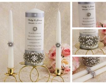 Unity Candle Set, Personalised Unity Candle, Wedding Candles, Unity Candle