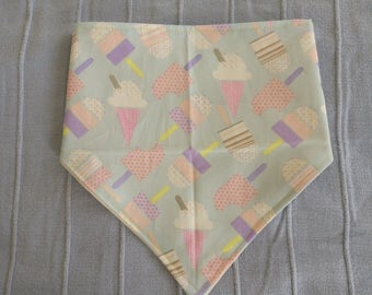Ice Cream Bandana Bib - Baby dribble neckerchief bib - ice lolly popsicle