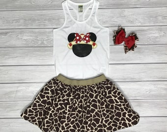 Minnie Safari Set, Animal Kingdom Outfit, Girls' Outfit, Minnie Safari, Animal Kingdom