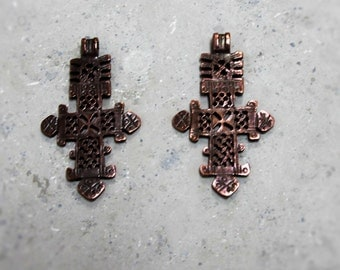 1 Large Medieval Cross  Pendant/ Charms #72