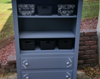 Shabby Chic cabinet with shelves/baskets